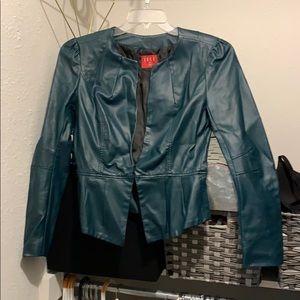 Elle dark green leather like jacket